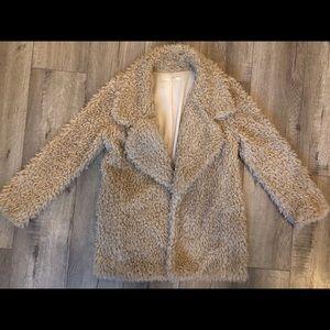 TULAROSA Beige Shag Jacket